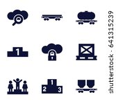 platform icons set. set of 9... | Shutterstock .eps vector #641315239