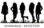 silhouette of a teenager ... | Shutterstock .eps vector #641317234