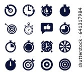 accurate icons set. set of 16... | Shutterstock .eps vector #641317984