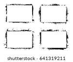 grunge border frame.grunge... | Shutterstock .eps vector #641319211