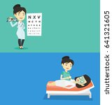 two medical banners with space... | Shutterstock .eps vector #641321605