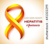hepatitis awareness symbol. red ... | Shutterstock .eps vector #641322295
