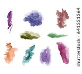 watercolor splashes. set of... | Shutterstock .eps vector #641331364