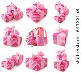 Nine Images Of Pink Gifts...