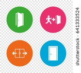 automatic door icon. emergency... | Shutterstock .eps vector #641333524