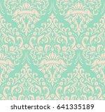 vector damask seamless pattern... | Shutterstock .eps vector #641335189