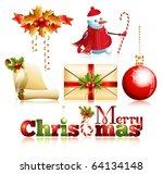 vector. set of christmas... | Shutterstock .eps vector #64134148