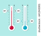 the meteorology thermometer... | Shutterstock .eps vector #641343301
