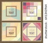 vintage creative cards. hipster ... | Shutterstock .eps vector #641343964