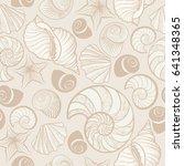 seashell seamless pattern.... | Shutterstock .eps vector #641348365