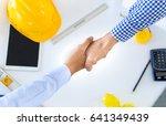 handshake customer businessman... | Shutterstock . vector #641349439