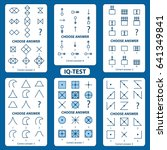 iq test. choose correct answer. ... | Shutterstock .eps vector #641349841