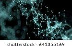 cyber modern virtual nano mesh... | Shutterstock . vector #641355169