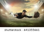 baseball players in action on...   Shutterstock . vector #641355661