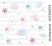 cute seamless pattern... | Shutterstock .eps vector #641356525