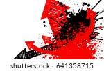 splash paint art background ... | Shutterstock .eps vector #641358715