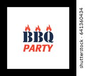 distressed bbq simple vector...
