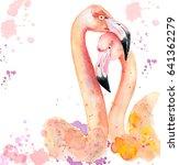 watercolor loving couple of... | Shutterstock . vector #641362279