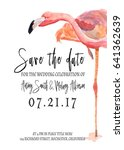watercolor save the date card... | Shutterstock . vector #641362639