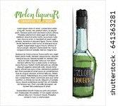 hand draw of alcohol bottle.... | Shutterstock .eps vector #641363281