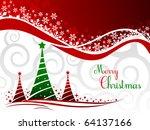 elegant christmas background... | Shutterstock .eps vector #64137166