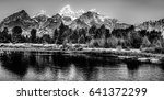 Grand Tetons In Black And Whit...