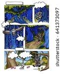 markers art. markers comics...   Shutterstock . vector #641373097