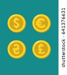a set of gold coins with the... | Shutterstock .eps vector #641376631