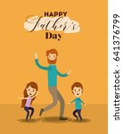colorful background of dad and... | Shutterstock .eps vector #641376799