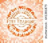 free training orange mosaic... | Shutterstock .eps vector #641381875
