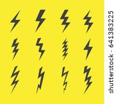 lightning design flat icons set | Shutterstock .eps vector #641383225