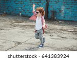 photo of cute little hipster... | Shutterstock . vector #641383924