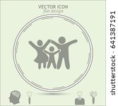 happy family icon | Shutterstock .eps vector #641387191