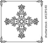 christian cross | Shutterstock .eps vector #64139140
