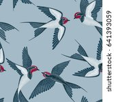 embroidery seamless pattern... | Shutterstock .eps vector #641393059
