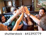 gesture  people and friendship...   Shutterstock . vector #641393779