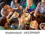 leisure  food  drinks  people... | Shutterstock . vector #641394469