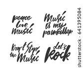 music quotes set. modern... | Shutterstock .eps vector #641395084