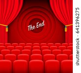 scene cinema the end background.... | Shutterstock .eps vector #641396275