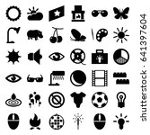 bright icons set. set of 36... | Shutterstock .eps vector #641397604