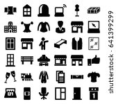 front icons set. set of 36... | Shutterstock .eps vector #641399299
