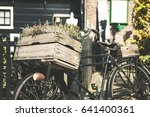 close up vintage bike zaanse... | Shutterstock . vector #641400361