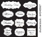 set of vector vintage frames on ... | Shutterstock .eps vector #64140067