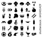 fresh icons set. set of 36... | Shutterstock .eps vector #641401429