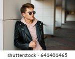 young handsome man in aviator... | Shutterstock . vector #641401465