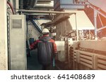 waste processing plant.... | Shutterstock . vector #641408689