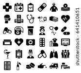 healthcare icons set. set of 36 ... | Shutterstock .eps vector #641410651