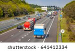 right hand side evening freeway ...   Shutterstock . vector #641412334