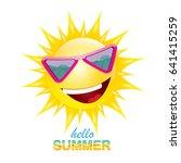 vector hello summer creative... | Shutterstock .eps vector #641415259