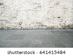 white brick wall background | Shutterstock . vector #641415484